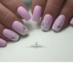 Nail Designs - Nail Art Ideas and Care Tips Pink Nail Colors, Pink Nail Art, Purple Nails, Fabulous Nails, Perfect Nails, Fancy Nails, Pretty Nails, Nail Art Printer, Best Nail Art Designs