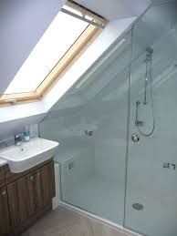 Stylish 34 Fancy Bathroom Design Ideas With Stunning Wood Shades Attic Shower, Small Attic Bathroom, Small Shower Room, Attic Bedroom Small, Attic Spaces, Upstairs Bathrooms, Attic Rooms, Loft Conversion Layout, Loft Conversion Bedroom