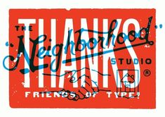Neighborhood Thanks in Typography
