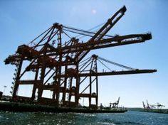 Kranen haven van Antwerpen