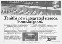Zenith AM FM Receiver 1979 Ad Picture