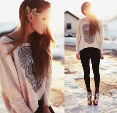Graphic Pullover Sweater