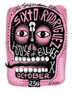 Carlos Hernandez, Concert Poster, United States, ca. Rock Posters, Band Posters, Concert Posters, Music Posters, Gig Poster, Cool Poster Designs, Music Illustration, Greys Anatomy Memes, Art Design