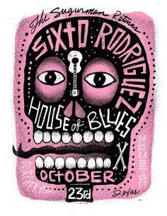 Sixto Rodriguez concert poster