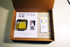 """100 users randomly caught on social networks, placed in a box and sold at a symbolic price of EUR 9.99.    Each box, numbered and unique, contains one of them: the Personal User.    Opening the box, along with a small jelly, a QRcode is discovered. Scanning the code, its owner will log in real time the emotional state of his Personal User: """"15-02 - 2012, at 16:40:39 ': love,"""" and so on, until the digital identity barely bought will be alive and will vote online."""