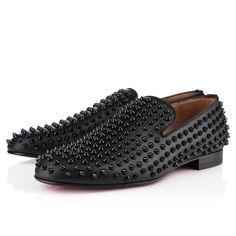 ROLLERBOY SPIKES , Nappa, Noir/Noir, souliers pour homme. Louboutin
