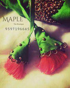 Learn Embroidery, Hand Embroidery Designs, Simple Kurta Designs, Saree Tassels, Blouse Designs Silk, Stylish Blouse Design, Diy Tassel, Kids Frocks, Textiles