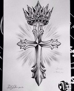 How to customize your cross tattoos - tattoos Tattoo Sketches, Tattoo Drawings, Body Art Tattoos, Sleeve Tattoos, Cross With Wings Tattoo, Cross Tattoo For Men, Cross Tattoos, Christ Tattoo, Jesus Tattoo