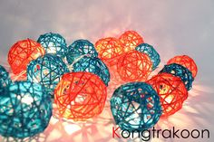 Colorful Rattan Ball String Lights will help set the mood at your reception. $13.99 from KONGTRAKOON