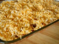 Million Dollar Casserole Recipe No meat but you can add ground beef.