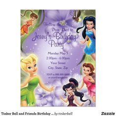 Tinker Bell and Friends Birthday Invitation