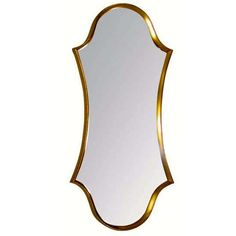 La Barge Cartouche-Form Gilt Framed Mirror | From a unique collection of antique and modern wall mirrors at https://www.1stdibs.com/furniture/mirrors/wall-mirrors/