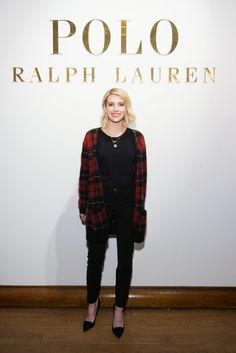 Pin for Later: Die Promis reissen sich um Hugo Boss Emma Roberts Gesehen bei: Polo Ralph Lauren