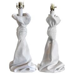 Knotted Plaster Table Lamps, manner of John Dickinson