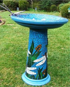 Mosaics By Robyn Spencer Crompton Garden Art In 2018 Pinterest Mosaic Birdbath And Bird Baths
