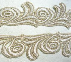 Venice Lace Trim 1 Yd Golden Swirls Waves Venise. $4.50, via Etsy.