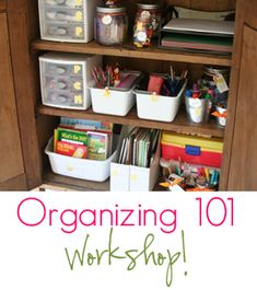 Tons of kitchen cabinet organizing ideas!