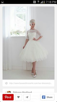 Ballerina type wedding dress