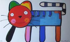 Blog da Geralda: Luciano Martins Luciano Martins, Kids Artwork, New Theme, Art Forms, Creative Art, Paper Art, Folk Art, Cats, Drawings