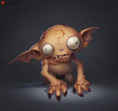 Imp Concept by Arthur G. … I wish this was a toy… you know one of those squishy ones that you can squeeze to make the eyeballs pop out XD.