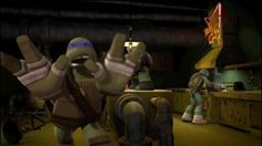Raph's just watching Donnie run in circles haha. And Leo not noticing a thing. xD
