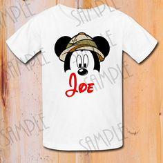 Disney Family Vacation shirt Safari Mickey by Fantasyprintables
