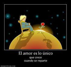El amor es lo único que crece cuando se reparte