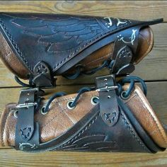 Ranger bracers, made and sold by folkofthewood on etsy - These guys make AMAZING stuff :)