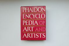 Check out this item in my Etsy shop https://www.etsy.com/listing/499069578/vintage-hardcover-phaidon-encyclopedia