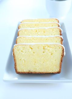 Fruity and sweet gluten free iced lemon pound cake with the classic tart and sweet lemon glaze. Just like Starbucks, but gluten free!
