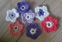 Streudeko Blüten - kostenlose Häkelanleitung