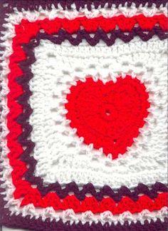 Free pattern. Heart granny
