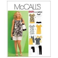 McCall's Patterns M5640 Women's Tops, Dresses, Shorts and Capri Pants