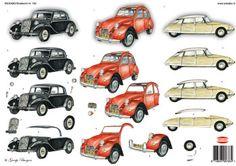 ... papier WKB-3D decoupage sheets WKB766 3D decoupage paper oldtimer cars