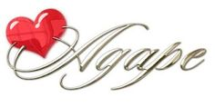 agape this font but w\o the heart tattoo