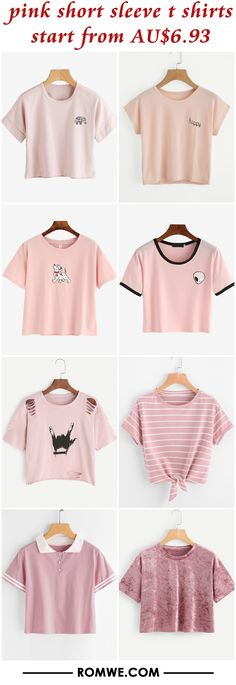 pink short sleeve t shirts from AU$6.93