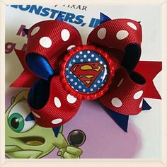 Hey, I found this really awesome Etsy listing at http://www.etsy.com/listing/126261067/baby-boutique-mini-bow-superman-stacked