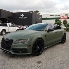 Matte Green #A7 Done By @theautofirm #AlexVega Follow @theautofirm #CarsWithoutLimits