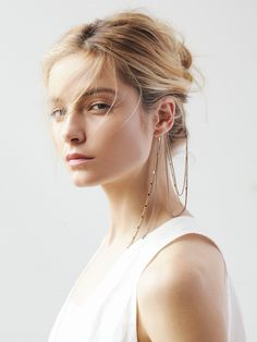 Free People Draped Ear Cuff to Hair Chain at Free People Clothing Boutique