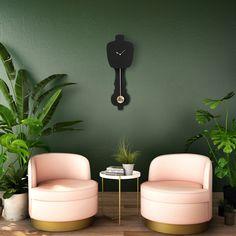 Combo Design is officieel dealer van KLOQ ✓ wandklokken collectie makkelijk te bestellen ✓Gratis verzenden (NL) ✓Altijd de scherpste prijs ✓ 50th, Wall Lights, Black, Wall Clocks, Home Decor, Design, Health, Modern, Nostalgia