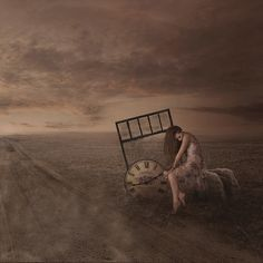 time waits for no one | KML Creatives - Kristen Marie Artistry conceptual portrait photography / composite / image manipulation