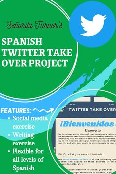 Spanish Twitter Take Over Project/Activity
