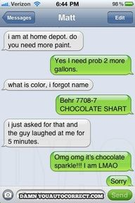 This has happened to me before. Tammy has sent me to get things with the wrong name. It's funny. lol.