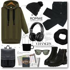 Romwe Green Sweatshirt by biljana-miric-ex-tomic on Polyvore featuring moda, Marc by Marc Jacobs, Coach, Burton, Ray-Ban, iittala and Beats by Dr. Dre
