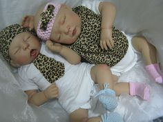 REBORN BABY TWINS MY FAKE BABIES REALISTIC 22  BIG NEWBORN 2 DOLLS GIRL & BOY