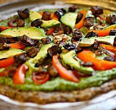 Receita de Pizza Vegana Crua (sem óleo, sem sal e com baixo teor de gordura)