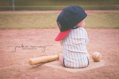 6 month old baseball picture