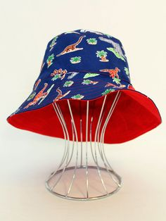 1baef34413585 Reversible Babies Bucket Hat ROAR Dinosaur with by OneCrazyMumma Cute Sun