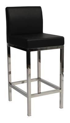"""""""Laverton"""" Stainless Steel Square Frame Padded Bar Stool in Black Dining Room Chairs Ikea, Dining Room Chair Cushions, Balcony Table And Chairs, Restaurant Tables And Chairs, Stainless Steel Bar Stools, Padded Bar Stools, Bar Stools For Sale, Black Stool, Patterned Armchair"""