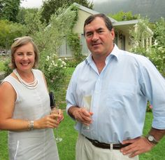 Kleine Zalze MCC function 2014 - Owner and MD Kobus Basson and his wife Mariette Basson